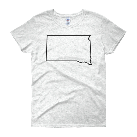 Women's Dakota Outline T-Shirt in White Fleck Triblend