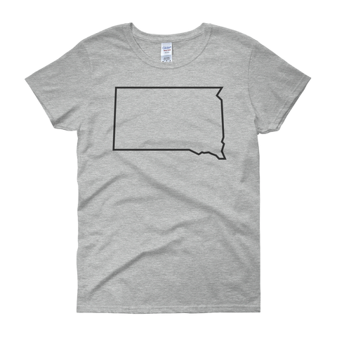 Women's Dakota Outline T-Shirt in Gray