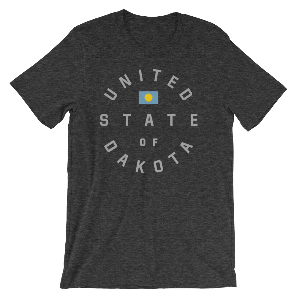 United State of Dakota T-shirt in Dark Heather Gray