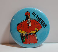 'BLANKMAN' Retro Button Pin