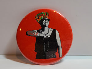 'Queen' Retro Button Pin
