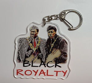 Black Royalty Retro Keychain