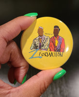 'ZFORMATION' Retro Button Pin