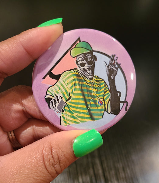 'Master William' Retro Button Pin