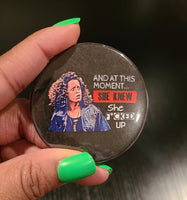 'Vanessa Huxtable' Retro Button Pin