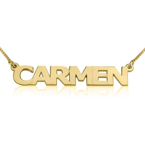 Capital Nameplate Necklace