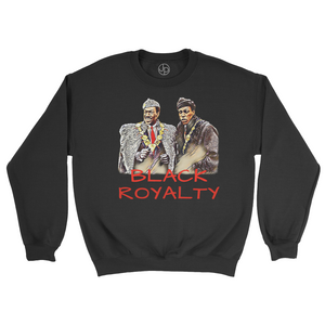Black Royalty Retro Crewneck Sweatshirt