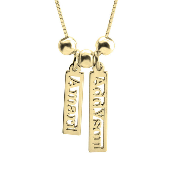 Vertical Multiple Name Necklace