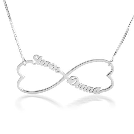 Double Heart Infinity Necklace