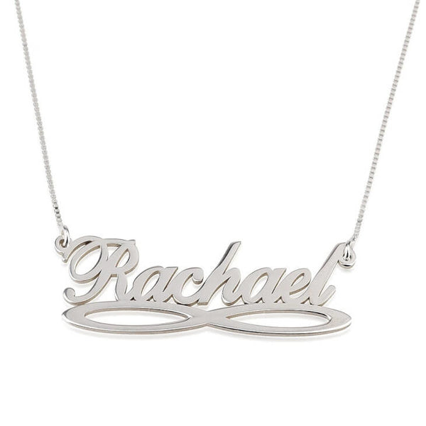 Infinity Nameplate Necklace