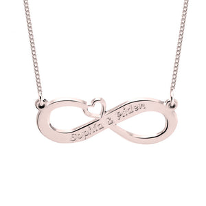 Two Name Infinity Name Necklace
