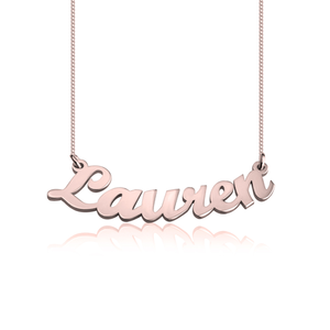 Curved Nameplate Necklace