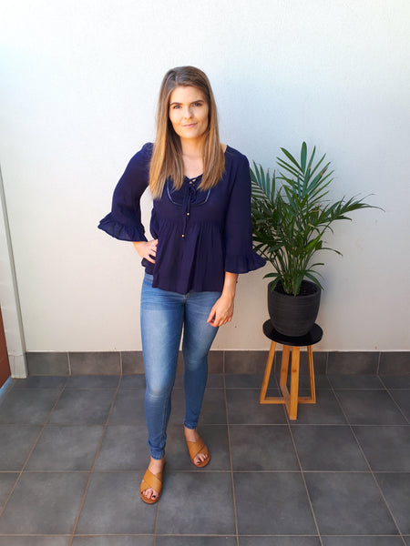 Florence Navy Top