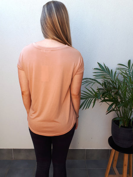 Plain Jane tee - Tan