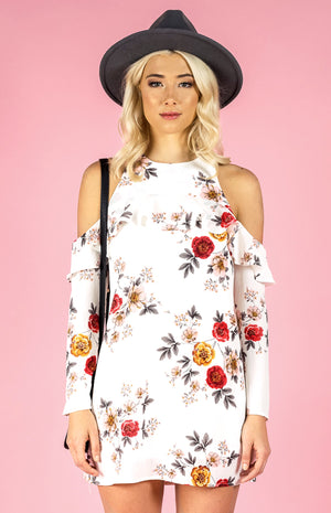Floral Off the Shoulder Shift Dress