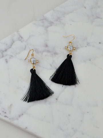 Black Tassel Earrings