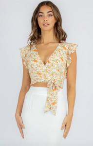 Stella Frill Floral Top