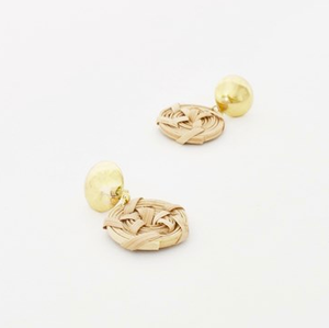 Rattan Spiral Drop Earrings
