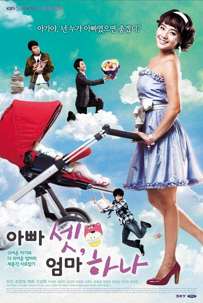 Korean drama dvd: 3 Dads and 1 Mom, english subtitles