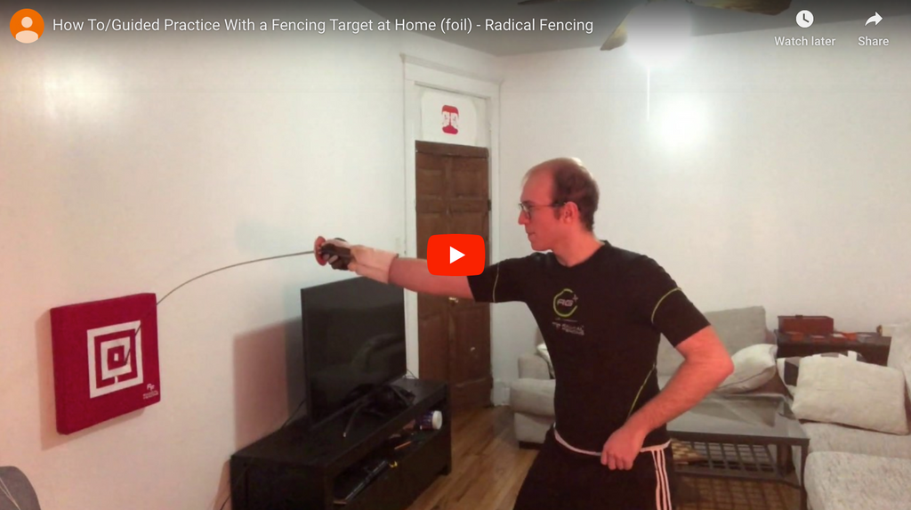 Part 1 How To/Guided Practice With a Fencing Target at Home (foil)