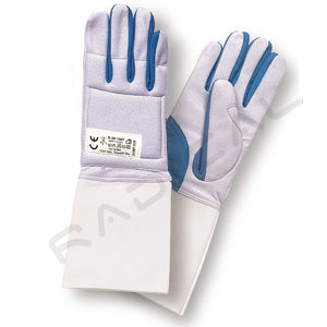 RF PBT Fencing washable glove BLUE/GREY - Radical Fencing: the Best Fencing Equipment