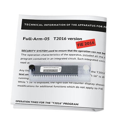 RF FA Favero new timing chip for Arm 05 according to T2016 rules - Radical Fencing: the Best Fencing Equipment