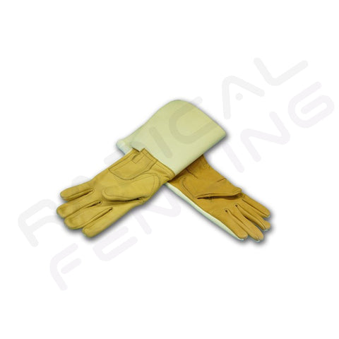 RF PR Prieur 3-Weapons Leather and 350N Fabric Glove - Radical Fencing: the Best Fencing Equipment
