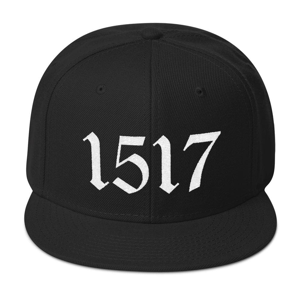 1517 Snapback - Hat - The Reformed Sage - reformed - reformed gifts - christian gifts - christian hoodie - christian apparel - christian decor - christian art -