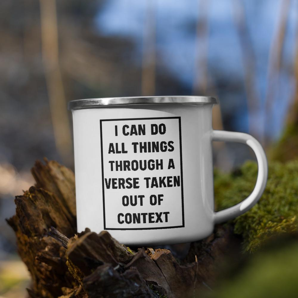 All Things - Enamel Mug - The Reformed Sage - reformed - reformed gifts - christian gifts - christian hoodie - christian apparel - christian decor - christian art -