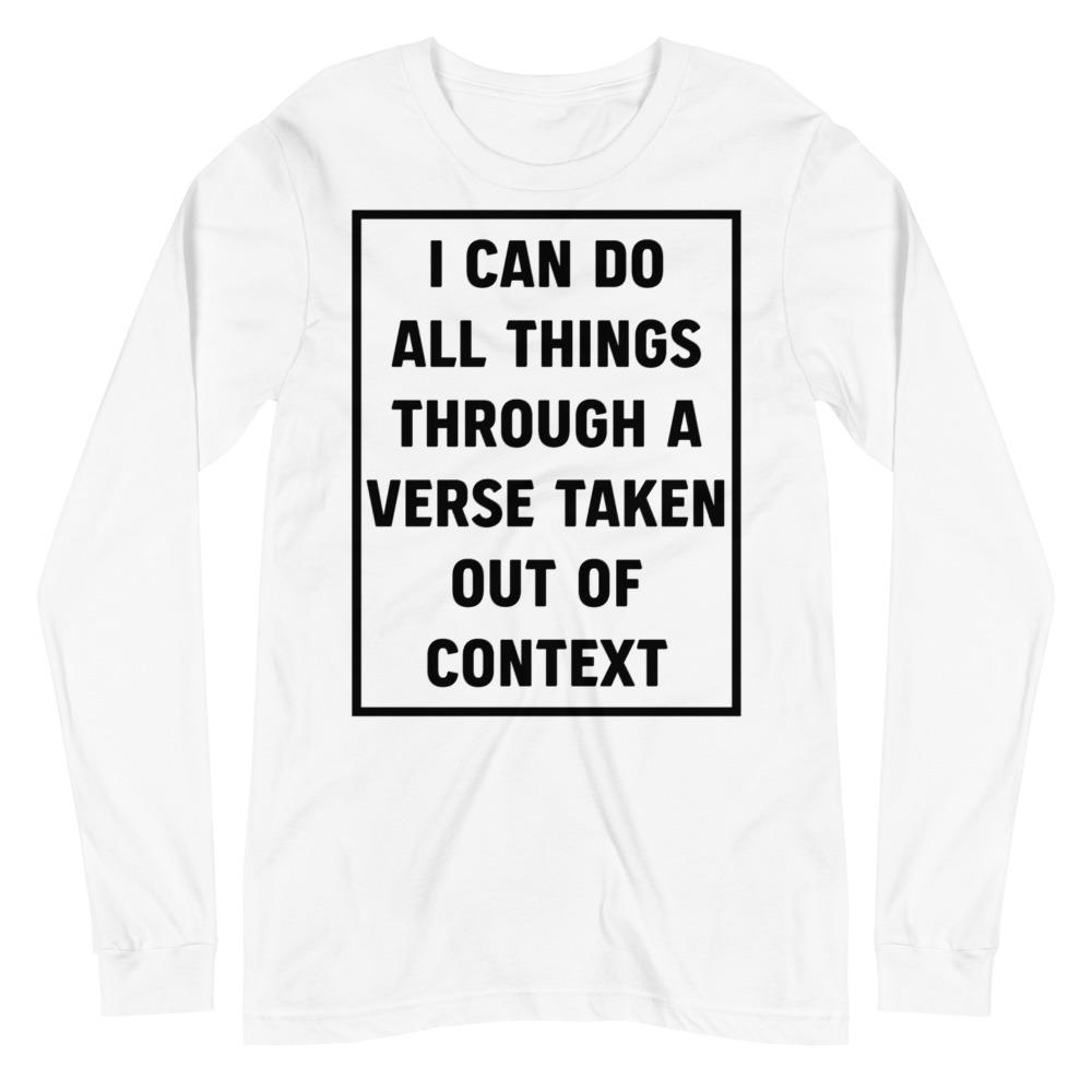 All Things - Long Sleeve - The Reformed Sage - reformed - reformed gifts - christian gifts - christian hoodie - christian apparel - christian decor - christian art -