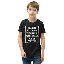 Load image into Gallery viewer, All Things - Youth T-Shirt - The Reformed Sage - reformed - reformed gifts - christian gifts - christian hoodie - christian apparel - christian decor - christian art -