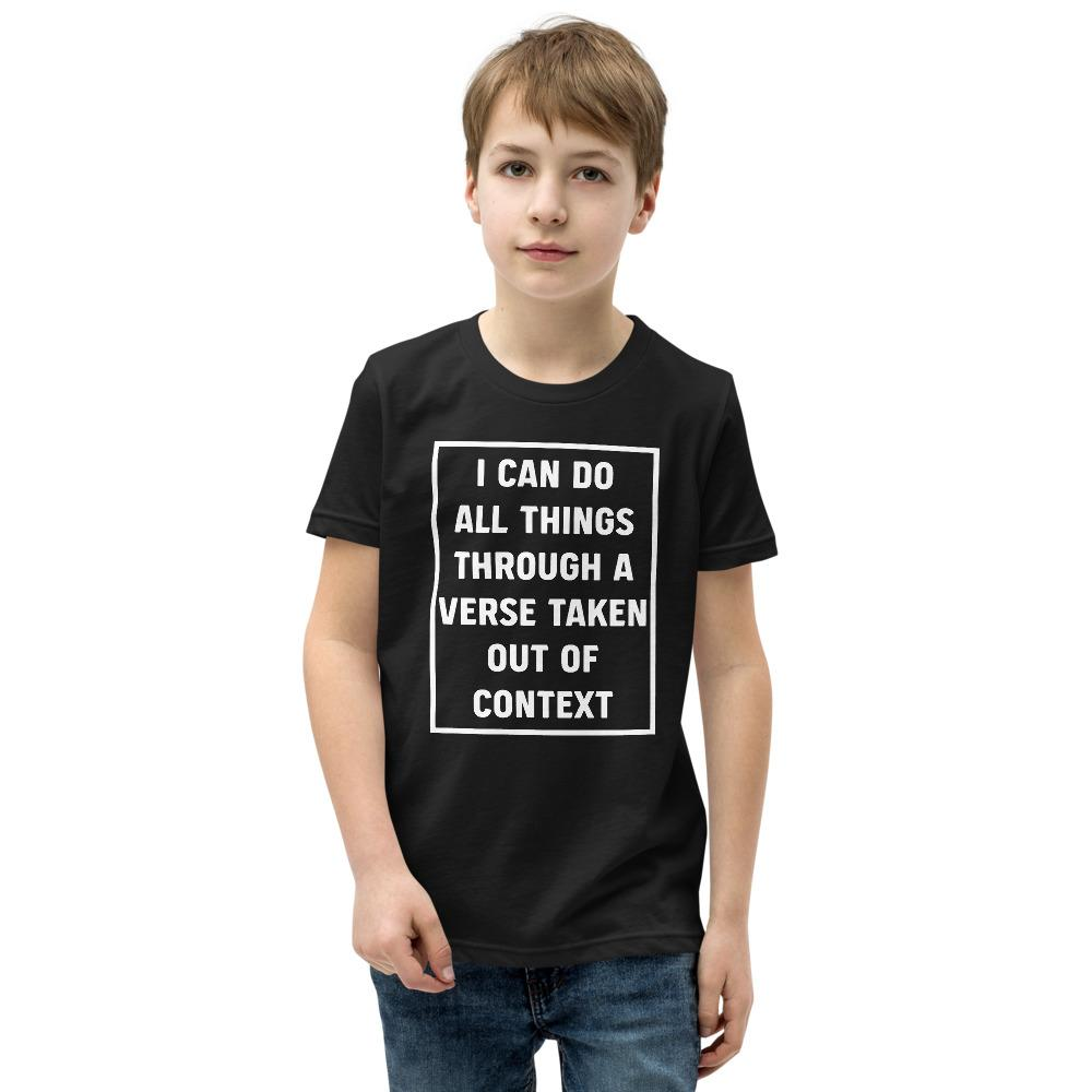 All Things - Youth T-Shirt - The Reformed Sage - reformed - reformed gifts - christian gifts - christian hoodie - christian apparel - christian decor - christian art -
