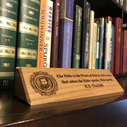 B.B. Warfield - Desk plaque - desk plaque - The Reformed Sage - #reformed# - #reformed_gifts#
