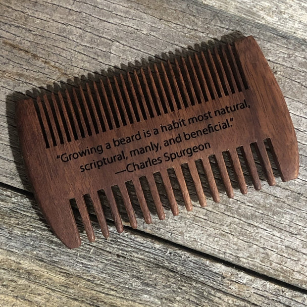 Blank/Custom Beard Comb Double Edge - Comb - Comb - The Reformed Sage - reformed - reformed gifts - christian gifts - christian hoodie - christian apparel - christian decor - christian art -