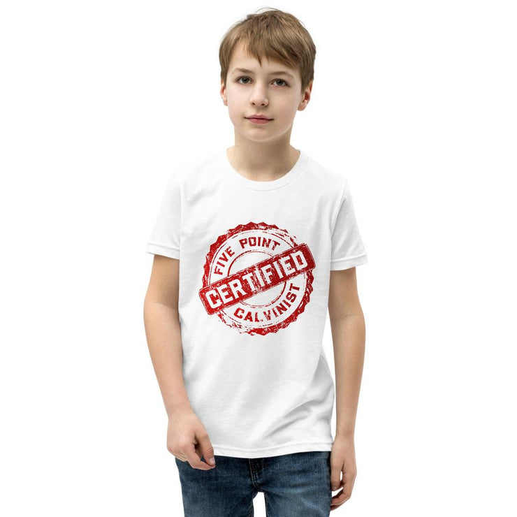 Certified - Youth T-Shirt - The Reformed Sage - reformed - reformed gifts - christian gifts - christian hoodie - christian apparel - christian decor - christian art -
