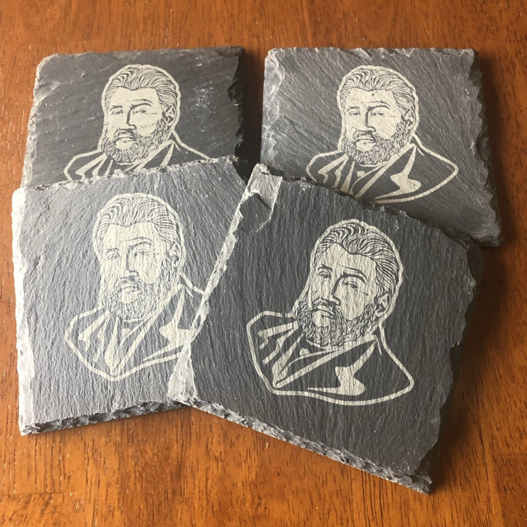 C.H. Spurgeon - Slate Coaster - Slate Coaster - The Reformed Sage - #reformed# - #reformed_gifts#