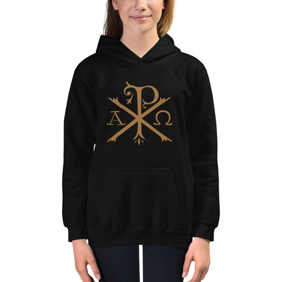 Chi Rho - Kids Hoodie - The Reformed Sage - reformed - reformed gifts - christian gifts - christian hoodie - christian apparel - christian decor - christian art -