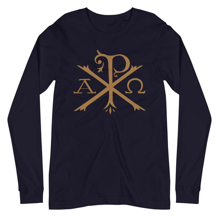 Chi Rho - Long Sleeve - The Reformed Sage - reformed - reformed gifts - christian gifts - christian hoodie - christian apparel - christian decor - christian art -