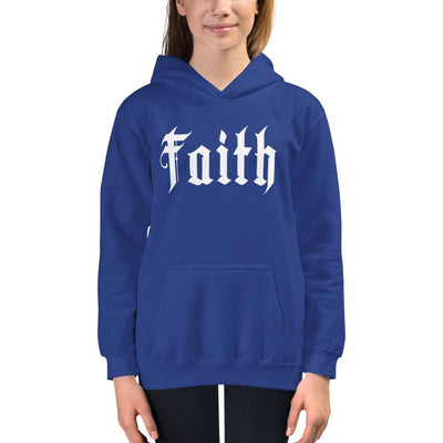 Faith - Kids Hoodie - The Reformed Sage - reformed - reformed gifts - christian gifts - christian hoodie - christian apparel - christian decor - christian art -