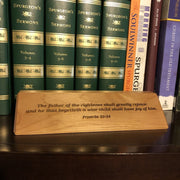 Father of the Righteous- Desk plaque - desk plaque - The Reformed Sage - #reformed# - #reformed_gifts#