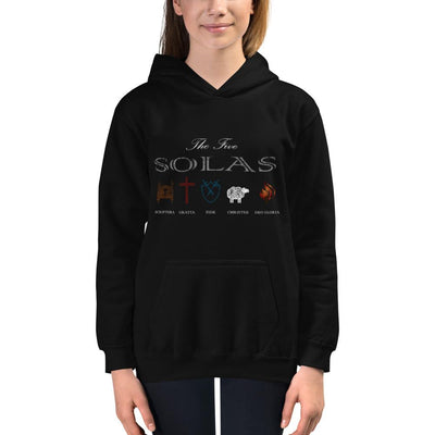 Five Solas - Kids Hoodie - The Reformed Sage - reformed - reformed gifts - christian gifts - christian hoodie - christian apparel - christian decor - christian art -