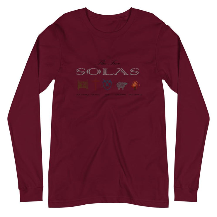 Five Solas - Long Sleeve - The Reformed Sage - reformed - reformed gifts - christian gifts - christian hoodie - christian apparel - christian decor - christian art -