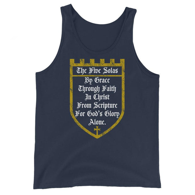 Five Solas - Tank - The Reformed Sage - reformed - reformed gifts - christian gifts - christian hoodie - christian apparel - christian decor - christian art -