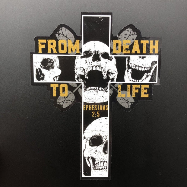 From Death to Life - Decal - Decal - The Reformed Sage - #reformed# - #reformed_gifts#