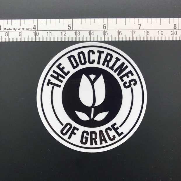 Doctrines of Grace Redux - Decal - Decal - The Reformed Sage - reformed - reformed gifts - christian gifts - christian hoodie - christian apparel - christian decor - christian art -