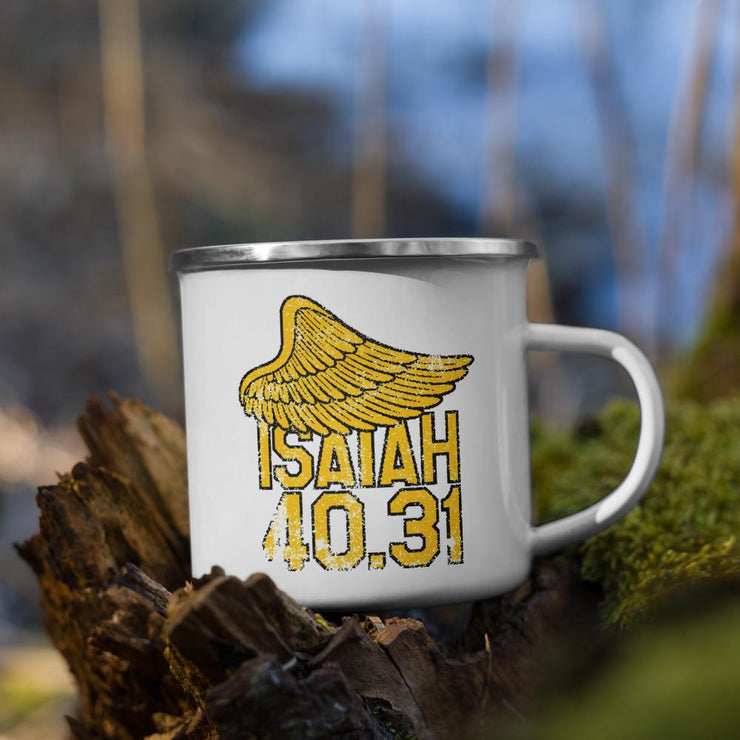 Isaiah 40.31 - Enamel Mug - The Reformed Sage - reformed - reformed gifts - christian gifts - christian hoodie - christian apparel - christian decor - christian art -