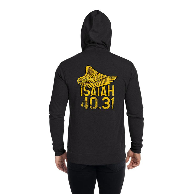 Isaiah 40.31 - Unisex zip hoodie - The Reformed Sage - reformed - reformed gifts - christian gifts - christian hoodie - christian apparel - christian decor - christian art -
