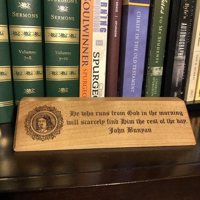 John Bunyan - Desk plaque - desk plaque - The Reformed Sage - #reformed# - #reformed_gifts#