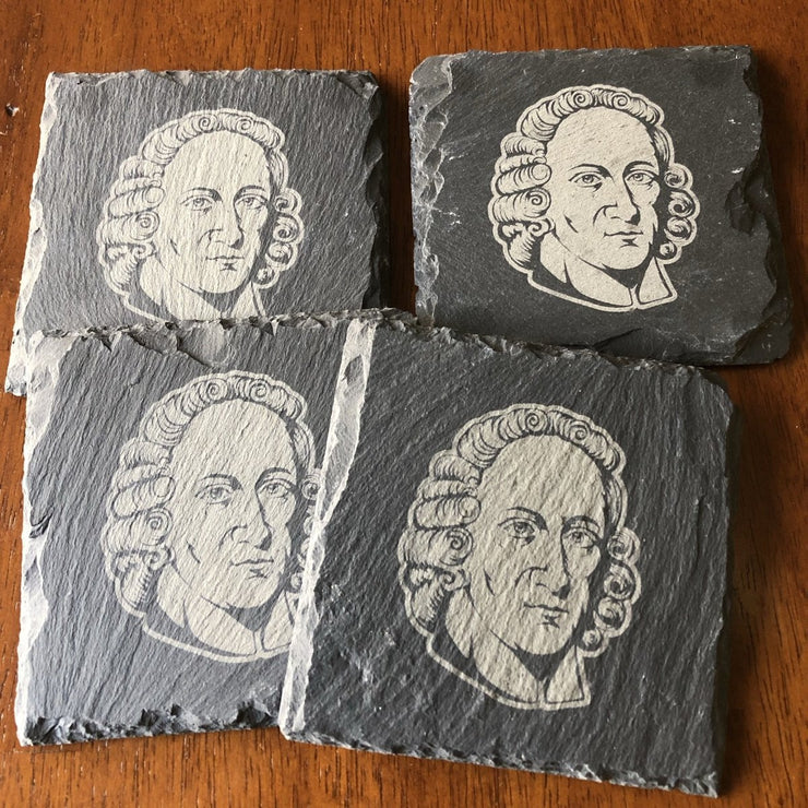 Jonathan Edwards - Slate Coaster - Slate Coaster - The Reformed Sage - reformed - reformed gifts - christian gifts - christian hoodie - christian apparel - christian decor - christian art -