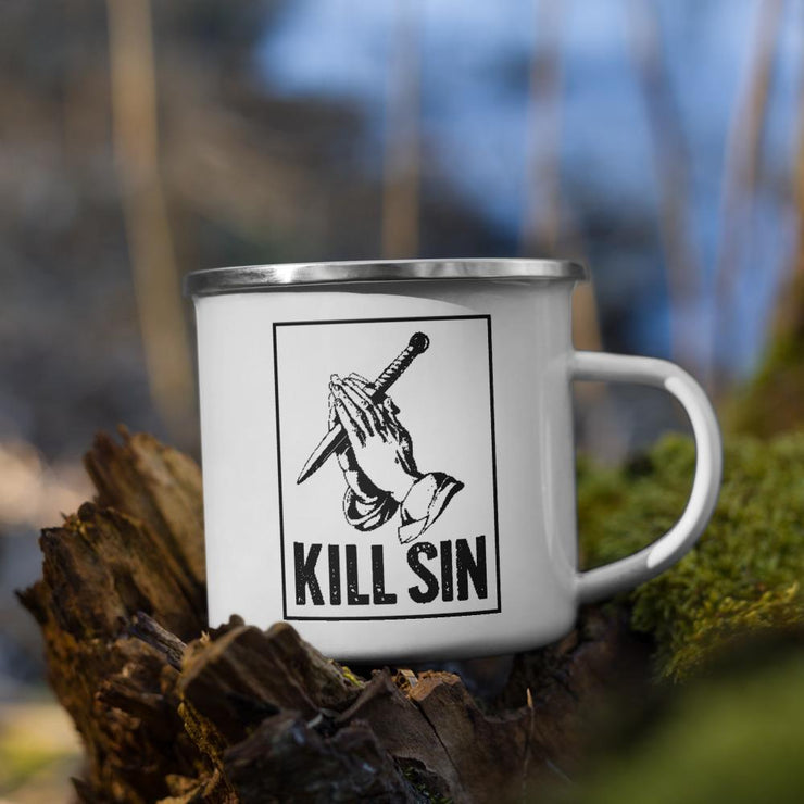 Kill Sin - Enamel Mug - The Reformed Sage - reformed - reformed gifts - christian gifts - christian hoodie - christian apparel - christian decor - christian art -